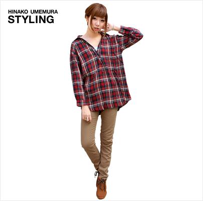 【画像】秋冬の必需品!定番のチェックシャツのコーディネート!のサムネイル画像