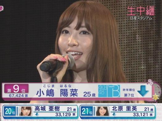 【AKB総選挙】「こじはる」こと小嶋陽菜さんの選挙結果を振り返る!のサムネイル画像