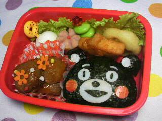 熊本の生んだゆるキャラ!くまモンのキャラ弁って簡単なのです!のサムネイル画像