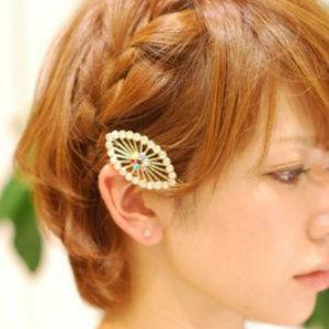 ショートヘアでもできる♪自分でできる編み込みアレンジいろいろのサムネイル画像