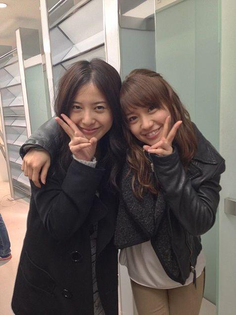 仕事だけじゃなくプライベートも仲良い?大島優子と吉高由里子のサムネイル画像
