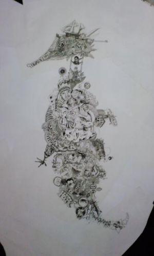 大野智さんが個展で展示した作品③